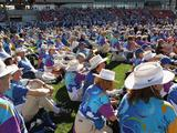 Volunteers attend a Sydney 2000 Reunion as part of celebrations marking the 10th anniversary of the Sydney 2000 Olympics