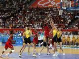 Lisa Leslie #9 of the United States shoots the ball over Suzy Batkovic #8 of Australia during the women's basketball gold medal game at the Beijing Olympic Basketball Gymnasium on Day 15 of the Beijing 2008 Olympic Games on August 23, 2008 in Beijing, China.<br />