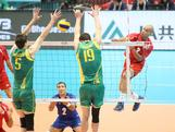 The Mens Indoor Volleyball team competes agains Puerto Rico at the FIVB World Olympic Qualifier – Game two at the Tokyo Metropolitan Gymnasium in Tokyo, Japan.