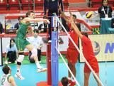 The Mens Indoor Volleyball team competes agains Puerto Rico at the FIVB World Olympic Qualifier – Game two at the Tokyo Metropolitan Gymnasium in Tokyo, Japan. Australia defeated Puerto Rico 25-14, 25-19, 25-20.