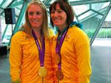Gold medallists Sally Pearson and Anna Meares are welcomed home from their London journeys at celebrations around Australia.