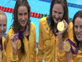 Women's 100m Freestyle Relay Team - Medal Ceremony London 2012