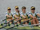 The Women's Quad Scull finished second after a terrific struggle with New Zealand