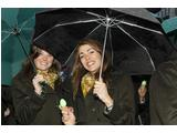Jo Shaw and Katya Crema at the Australian Flag Raising Ceremony for the Vancouver 2010 Olympic Winter Games.