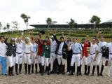 The riders in the individual equestrian competition.