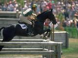 Andrew Hoy of Australia on Davey successfully clears the jump.