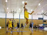 Corben Wroe of Australia lays the ball up during the men's first round basketball game between Australia and New Zealand during day one of the Australian Youth Olympic Festival at Sydney University Sports Centre on January 14, 2009 in Sydney, Australia.