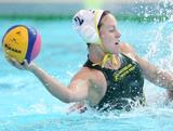 Gemma Beadsworth makes an attempt at goal during the Stingers 8-7 win over USA during the Water Polo Pan Pacs in Melbourne, VIC. gemma went onto score a hatrick in the game.