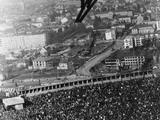 Innsbruck 1964: The camera angle gives the impression that German Dieter Bokeloh is about to land in the crowd. The event was won by Veikko Kankonnen of Finland, and Bokeloh came fourth.