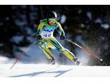 Craig Branch of Australia competes in the men's alpine skiing Super-G on