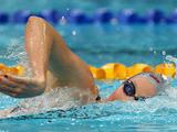 Bronte Barratt races in the Heats of the Women's 400 Metre Freestyle during the 2011 Australian Swimming Championships at Sydney Olympic Park Aquatic Centre.