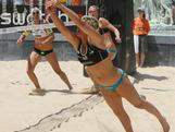 Natalie Cook and Tamsin Hinchley compete at the smart Grand Slam in Rome in June as part of the Swatch World Tour 2012.