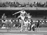 Mexico 1968: David Hemery of Great Britain leads the field during the 400 metres Hurdles event. Hemery won the gold medal.
