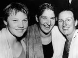 Rome 1960: From left, Australian swimmers Ilsa Konrads, Dawn Frazer, and Lorraine Crapp smile and pose together after they were selected to compete for Australia in the Rome 1960 Olympics. The trio made up three of the four members of women's 4x100m freestyle relay team (along with Alva Colquhoun) which took home the silver medal. Fraser also won gold in the 100m freestyle and was on the silver medal-winning team in the 4x100m medley relay.