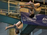 China's men's 3m synchronised diving team dominated the field at the 2013 AYOF in Sydney, 18 January.