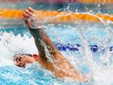 Eamon Sullivan swims in the Mens 100 Metre Freestyle Final during the 2011 Australian Swimming Championships at Sydney Olympic Park Aquatic.