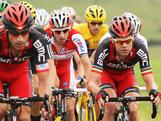 Cadel Evans and the BMC Racing team rides in the peloton during stage three of the 2012 Tour de France from Orchies to Boulogne-sur-Mer on July 3, 2012 in Boulogne-sur-Mer, France.