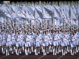 A sea of Olympic flag bearers in the Opening Ceremony of the 1988 Seoul Olympics.