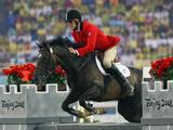 Andrey Moiseev of Russia competes in the Men's Modern Pentathlon Riding Show Jumping held at the OSC Stadium during Day 13 of the Beijing 2008 Olympic Games on August 21, 2008 in Beijing, China.