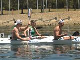 Athletes contest the canoe/kayak - sprint at the 2013 Australian Youth Olympic Festival.