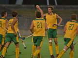 Australia plays Great Britain at the 2013 Australian Youth Olympic Festival.