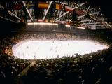 General view of the arena during a game between the United States and Finland, where the US won the game 4-2.