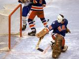 Goalie Jim Craig #30 of the United States makes a save during the men's ice hockey final against Finland. The United States won 4-2.