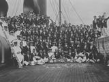 Los Angeles 1932: The Japanese delegation aboard a ship heading to Los Angeles before the Games. IOC Olympic Museum/Allsport