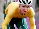 Australia's Jay McCarthy sprints down the starting ramp as he competes in the Junior Men's Cycling Time Trial. He won second place.