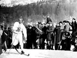 Cortina d'Ampezzo 1956: Sixten Jernberg of Sweden here in action. The Swedish champion, a supreme nordic skiier,  was the winner of a record nine Olympic Winter Games medals in three Games beginning with the Cortina d'Ampezzo Games.