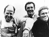Munich 1972: (left to right) Skipper John Cuneo with crew Tom Anderson and John Shaw gold medal winners of the Dragon class in yachting.