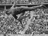 Berlin 1936: Cornelius Johnson of the United States tackling the high jump.