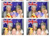 Sami Kennedy-Sim, Sam Wells and Danielle Scott in the photo booth.