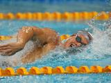 Kenrick Monk races in the Semi Final of the Men's 100 Metre Freestyle during the 2011 Australian Swimming Championships at Sydney Olympic Park Aquatic Centre