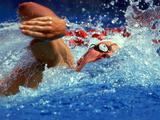 Kieren Perkins in action during the Mens 200m freestyle during the 1992 Olympic Games in Barcelona, Spain.