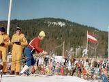 Innsbruck 1976: Soviet skier Galina Kulakova shortly before the start of the women's 5km cross country skiing event. Kulakova won the bronze in this race but was disqualified after testing positive for ephedrine. Despite this, she was allowed to compete in other events and took home a bronze for the women's 10km Cross Country and gold for the 4x5km cross country relay.