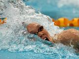 Kylie Palmer in the Final of the Women's 200 Metre Freestyle during the 2011 Australian Swimming Championships at Sydney Olympic Park Aquatic Centre.