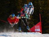 Louis Muhlen competes during the Men's Ski Cross heats at the Hafjell Freepark at the Winter Youth Olympic Games, Lillehammer Norway