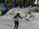 Australia's sole biathlon representative at the Innsbruck 2012 Winter Youth Olympic Games hard at training at his venue, Seefeld Arena.