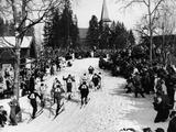 Oslo 1952: Competetors in the men's 4x10km cross-country relay event.