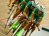 Michael Hepburn, Luke Durbridge, Peter Loft and Dale Parker of Australia compete in the Mens Pursuit Final during day three of the Australian Youth Olympic Festival at the Dunc Gray Velodrome on January 16, 2009 in Sydney, Australia.