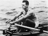 London 1948: Merv Wood, Australian rower, wins the gold medal in the single sculls.
