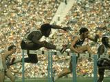 Munich 1972: American Rod Milburn wins the gold medal in the 110m hurdles final where he set a new Olympic and world record of 13.24 seconds, a mark that stood for the next five years.