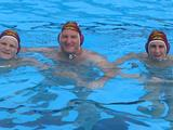 Brother BJ, dad and I in the pool ready for a game.