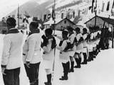 Chamonix 1924: French athletes swear that they will conduct the Winter Olympic Games in a loyal way at the Opening Ceremony.