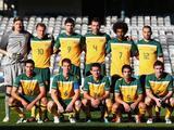 Australia pose for a team photo before the first 2012 London Olympic Games Asian Qualifier match between the Australian Olyroos and Yemen at Bluetongue Stadium on June 19, 2011 in Gosford, Australia. The Olyroos won the match 3-0.