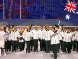 Australian Team Enters Olympic Stadium