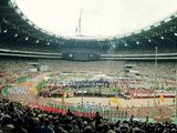 Montreal 1976: General view of the Opening Ceremony of the Olympic Games.