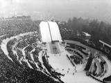 Innsbruck 1964: Opening Ceremony for the Winter Olympic Games.