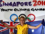 Pole Vaulter Liz Parnov was selected to carry the Australian flag at the Singapore 2010 Youth Olympic Games.